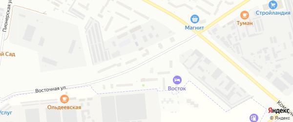 Восточная улица на карте деревни Юраково с номерами домов