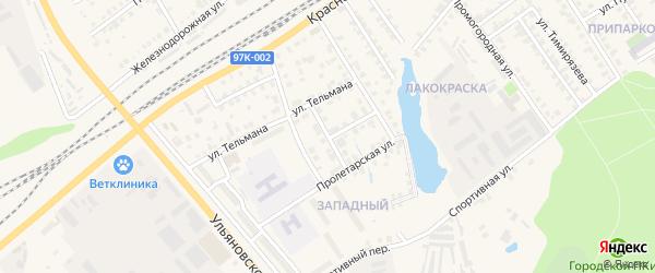 Улица Сеспеля на карте Канаша с номерами домов