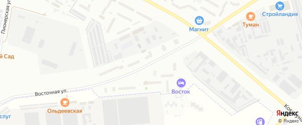 Восточная улица на карте Новочебоксарска с номерами домов
