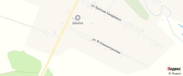 Улица Ф.Камалетдинова на карте деревни Полевые Бикшики с номерами домов
