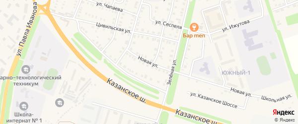 Новая улица на карте Цивильска с номерами домов
