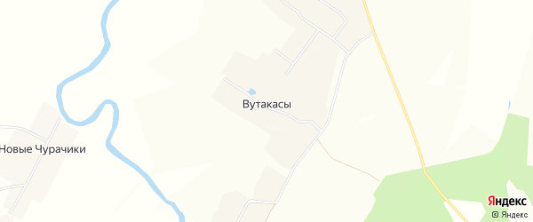 Карта деревни Вутакасы в Чувашии с улицами и номерами домов