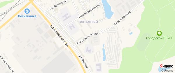 Спортивный переулок на карте Канаша с номерами домов