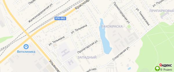 Пионерская улица на карте Канаша с номерами домов