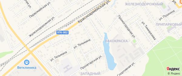 Красноармейский переулок на карте Канаша с номерами домов