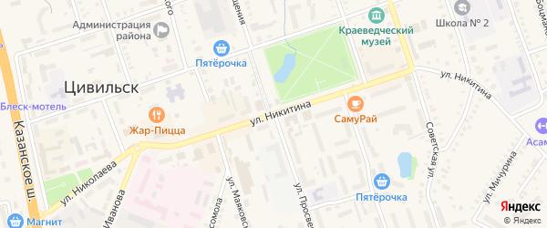 Улица Просвещения на карте деревни Первые Тойси с номерами домов