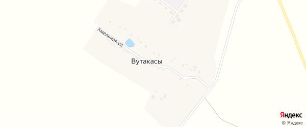 Хмельная улица на карте деревни Вутакасы с номерами домов