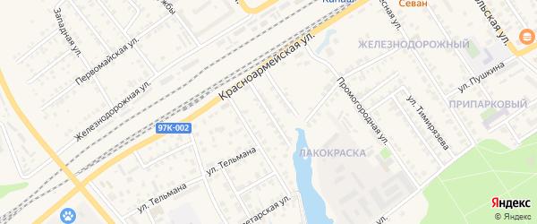 Улица Лермонтова на карте Канаша с номерами домов