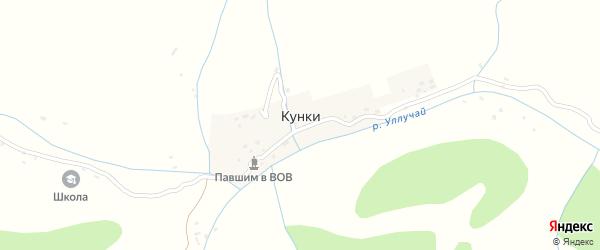 Улица Думша на карте села Кунки с номерами домов