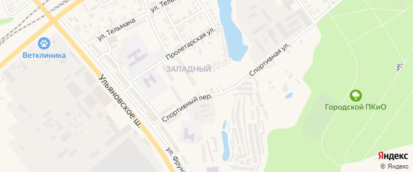 Молодежная улица на карте Канаша с номерами домов