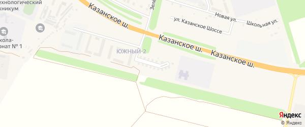 Улица Арцыбышева на карте Цивильска с номерами домов