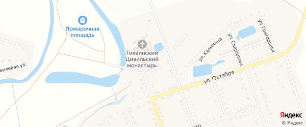 Пролетарская улица на карте Цивильска с номерами домов