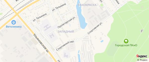 Пролетарский проезд на карте Канаша с номерами домов