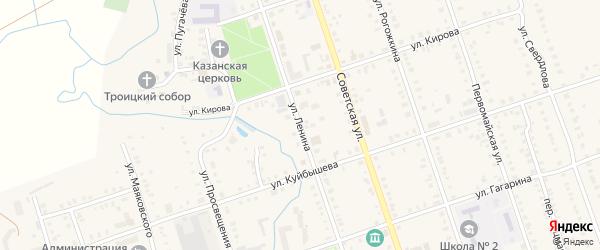 Улица Ленина на карте Цивильска с номерами домов
