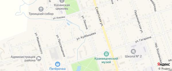Улица Куйбышева на карте Цивильска с номерами домов