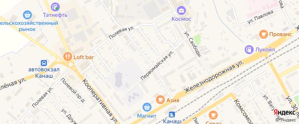 Чебоксарская улица на карте Канаша с номерами домов
