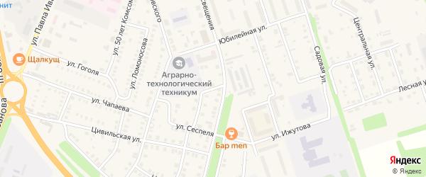 Солнечный переулок на карте Цивильска с номерами домов