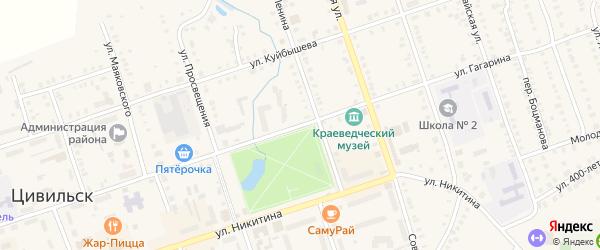 Улица Гагарина на карте Цивильска с номерами домов