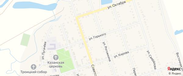 Улица М.Горького на карте Цивильска с номерами домов