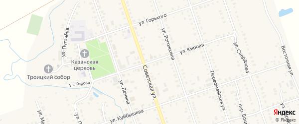 Улица Кирова на карте Цивильска с номерами домов