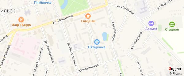 Парковый бульвар на карте Цивильска с номерами домов