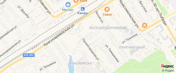 Театральная улица на карте Канаша с номерами домов
