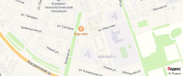 Улица Димитриева на карте Цивильска с номерами домов