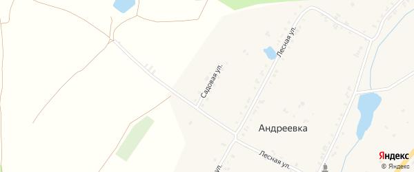 Садовая улица на карте деревни Андреевки с номерами домов