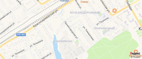 Промогородная улица на карте Канаша с номерами домов