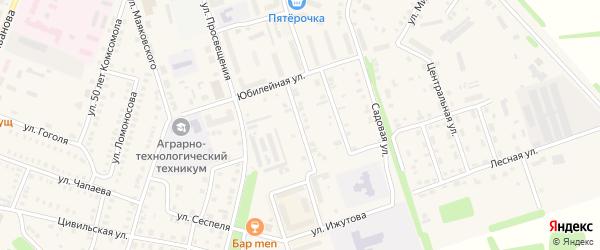 Улица В.Непейцына на карте Цивильска с номерами домов