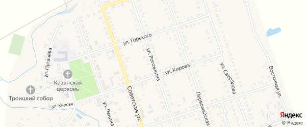 Улица Рогожкина на карте Цивильска с номерами домов