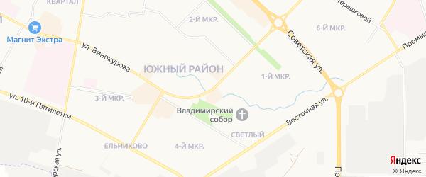 СТ Садоводческое товарищество Волга-4 на карте Новочебоксарска с номерами домов