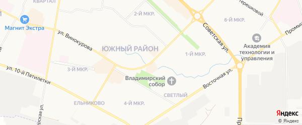 СНТ Энергия-2 на карте Новочебоксарска с номерами домов