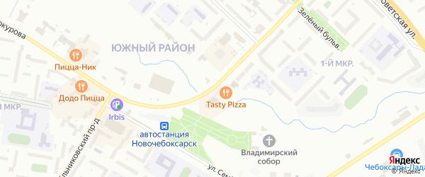 Шоршельский проезд на карте Новочебоксарска с номерами домов