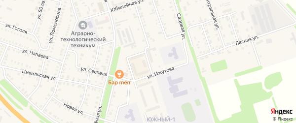 Улица Строителей на карте Цивильска с номерами домов