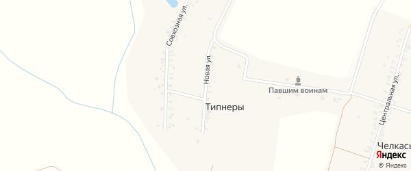 Новая улица на карте деревни Типнер с номерами домов
