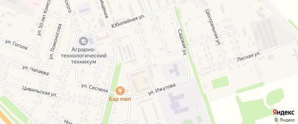 Улица Суворова на карте Цивильска с номерами домов