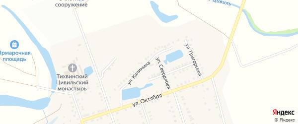 Улица Калинина на карте Цивильска с номерами домов