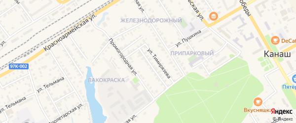 Садовая улица на карте Канаша с номерами домов