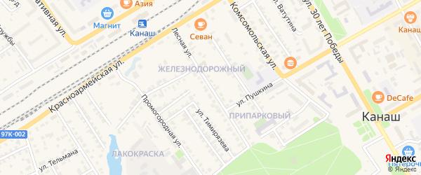 Лесная улица на карте Канаша с номерами домов