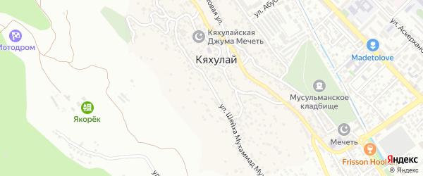 Дачная улица на карте поселка Кяхулая с номерами домов