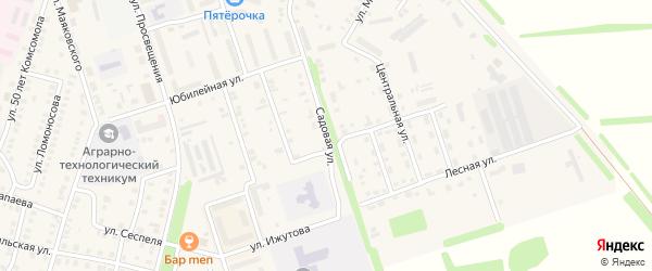 Садовая улица на карте Цивильска с номерами домов