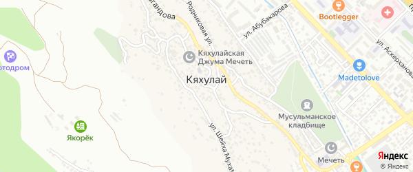 Проектная улица на карте поселка Кяхулая с номерами домов