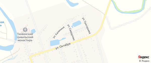 Луговая улица на карте Цивильска с номерами домов