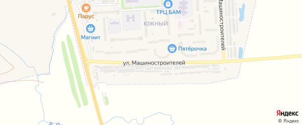 Улица Машиностроителей на карте Канаша с номерами домов