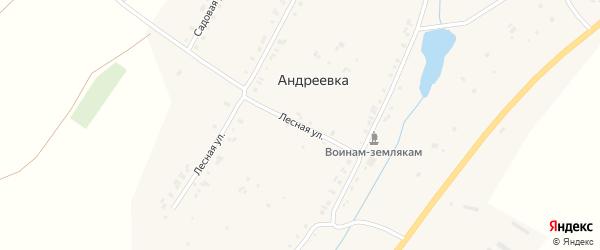 Лесная улица на карте села Шемурши с номерами домов