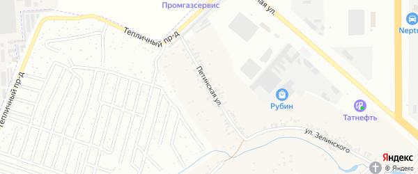 Петинская улица на карте Новочебоксарска с номерами домов