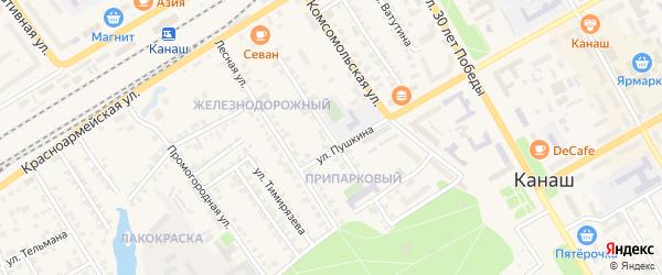 Улица Чайковского на карте Канаша с номерами домов