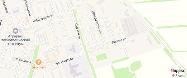 Просторная улица на карте Цивильска с номерами домов
