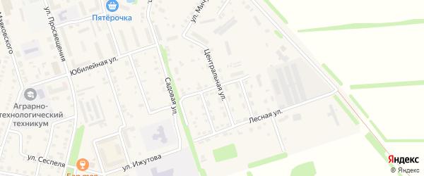 Хмелеводческая улица на карте Цивильска с номерами домов